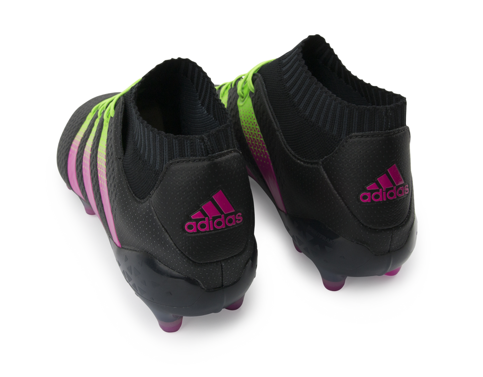 adidas Men's ACE 16.1 PrimeKnit FG/AG Black/Shock Pink/Solar Green
