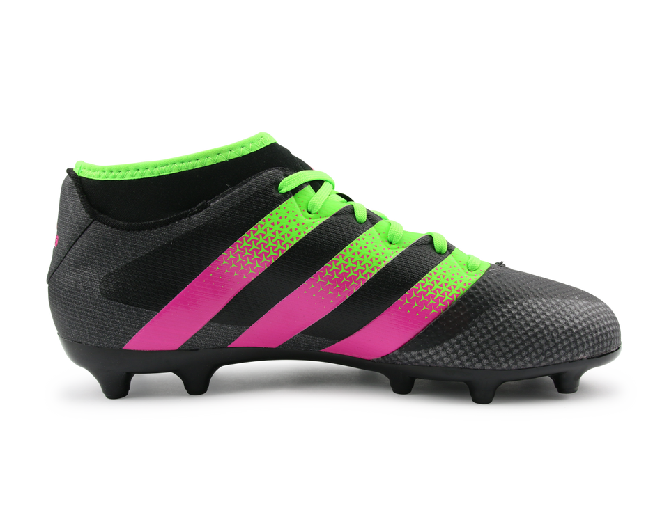 adidas Men's ACE 16.3 Primemesh FG/AG Black/Solar Green/Shock Pink