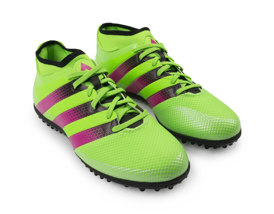 adidas Men's ACE 16.3 Primemesh Turf Soccer Shoes Solar Green/Shock Pink/Black