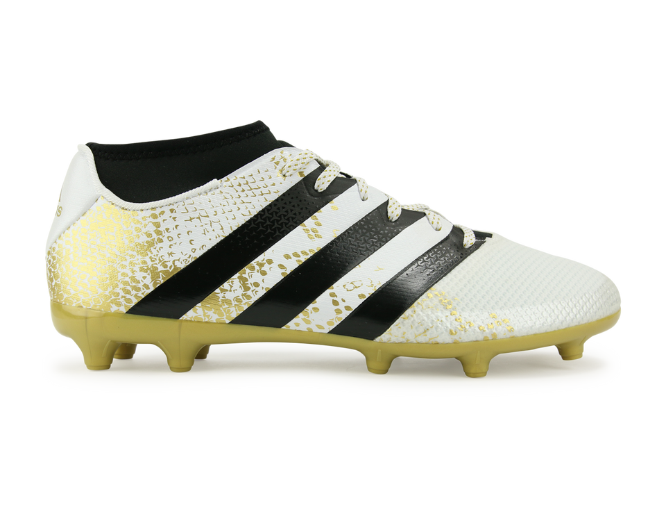 adidas Men's ACE 16.3 Primemesh FG/AG White/Core Black/Gold Metalic