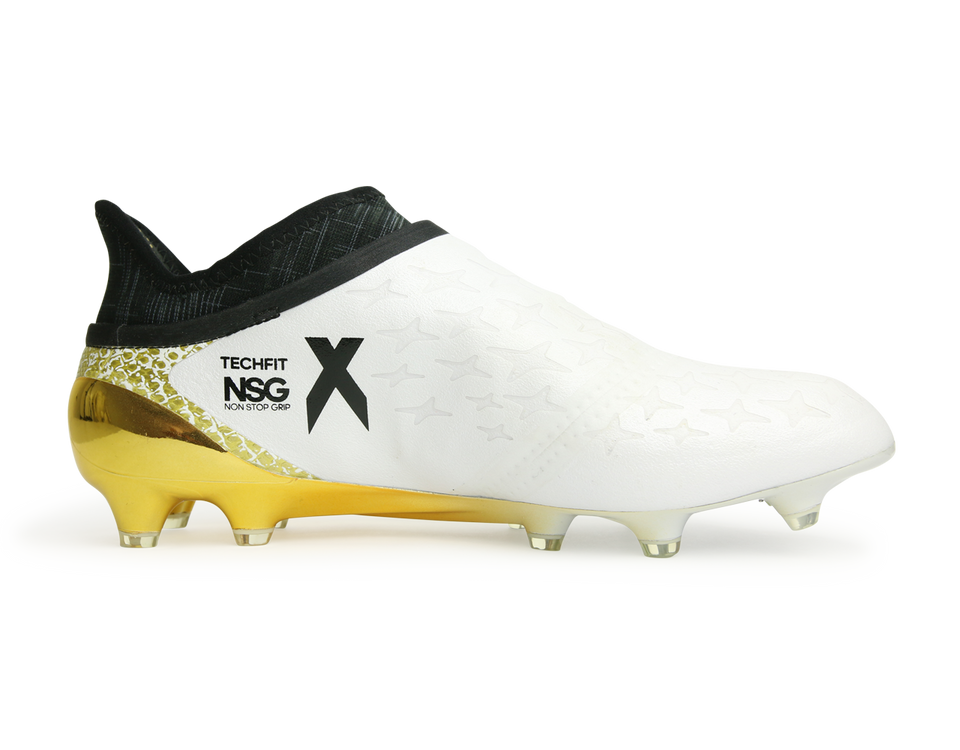 adidas Men's X 16+ PURECHAOS FG White/Core Black/Gold Metalic
