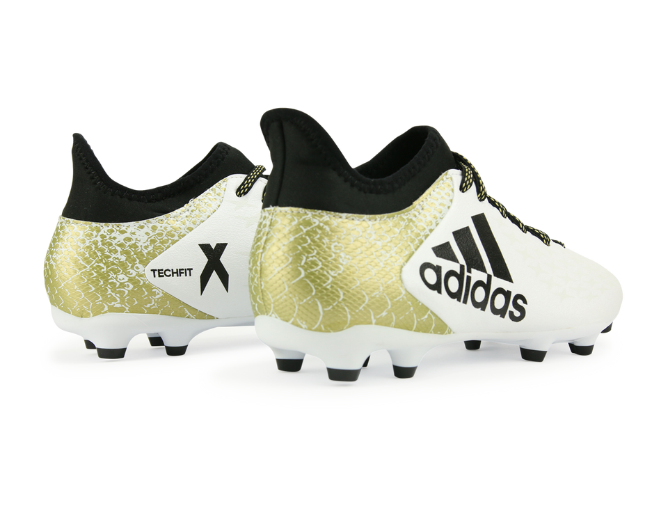 adidas Men's X 16.3 FG/AG White/Core Black/Gold Metalic