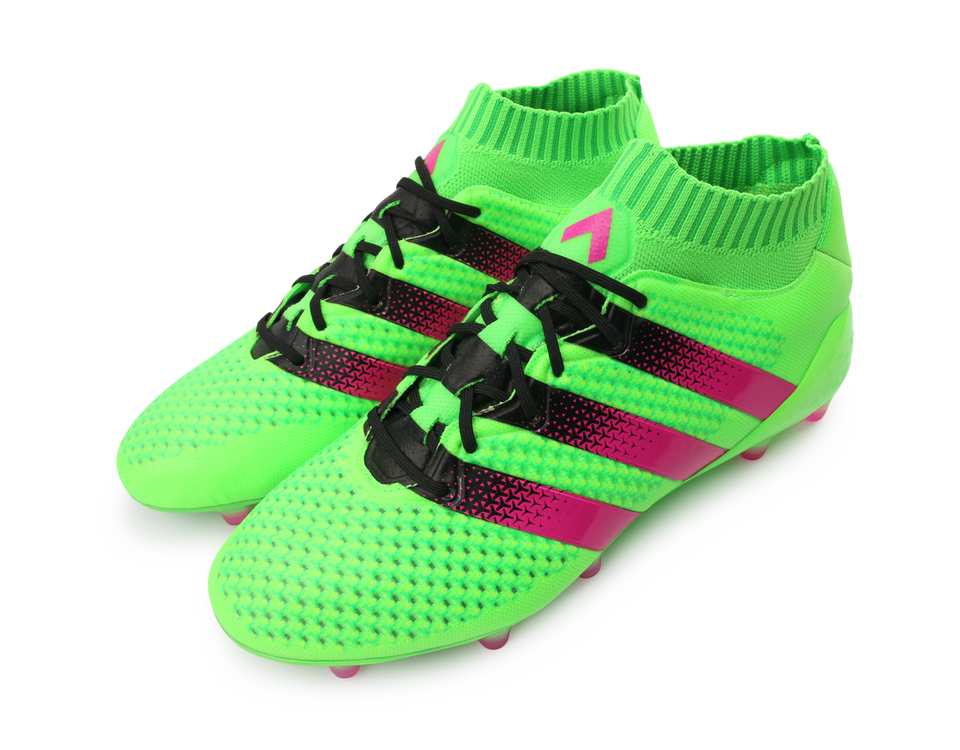 adidas Men's ACE 16.1 Primeknit FG/AG Solar Green/Shock Pink/Black