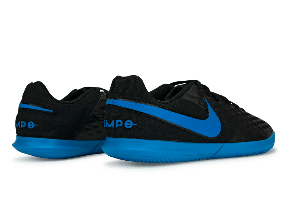 Nike Kids Legend 8 Club Indoor Soccer Shoes Black/Blue Hero