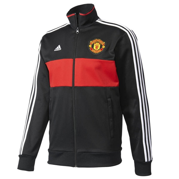 adidas Men's Manchester United 3 Stripes Track Jacket Real Red