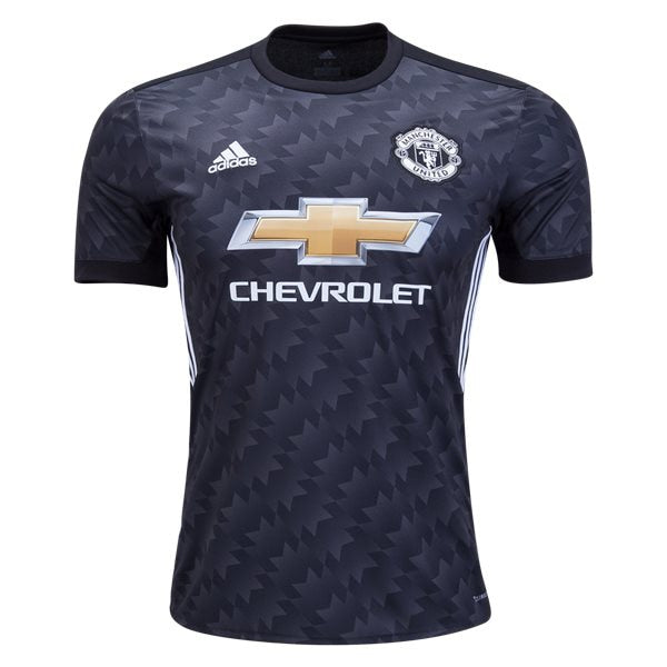 adidas Kids Manchester United 17/18 Away Jersey Black/White/Granite