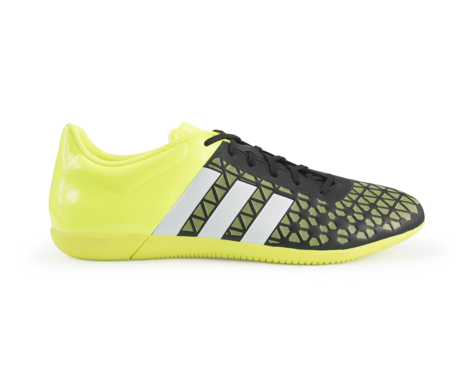 adidas Men's ACE 15.3 Indoor Soccer Shoes Solar Yellow/Solar Yellow/Black