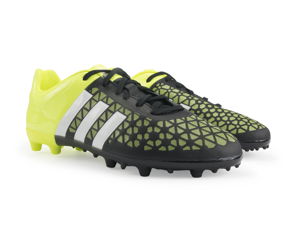 adidas Kids ACE 15.3 FG/AG Black/Night Metallic/Solar Yellow