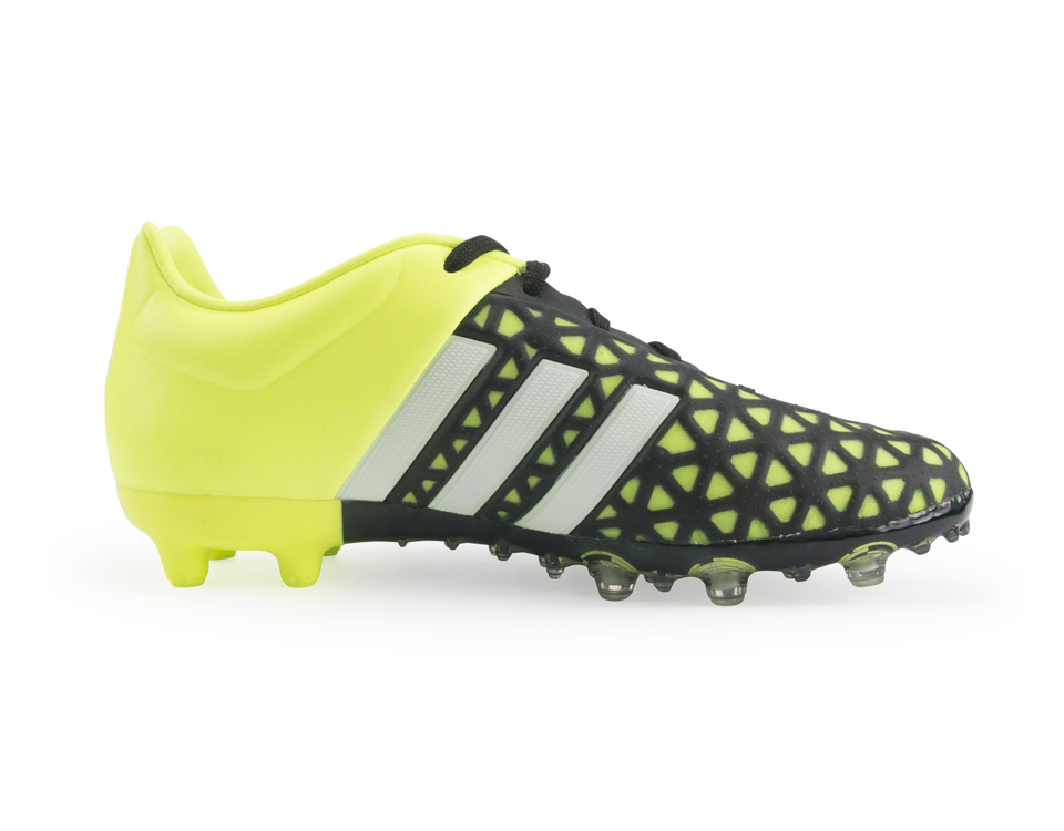 adidas Kids ACE 15.1 FG/AG Black/Night Metallic/Solar Yellow