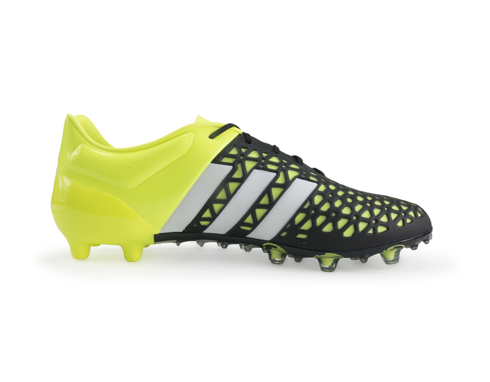 adidas Men's ACE 15.1 FG/AG Black/Night Metallic/Solar Yellow
