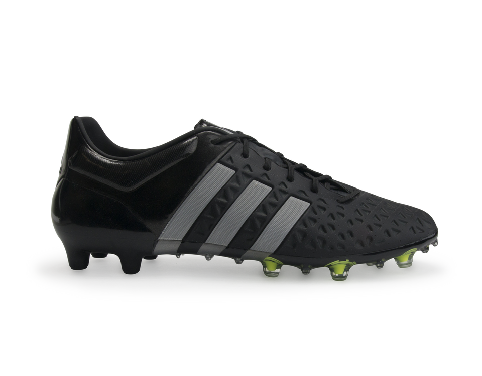 adidas Men's ACE 15.1 FG/AG Core Black/Solar Yellow/Night Metallic