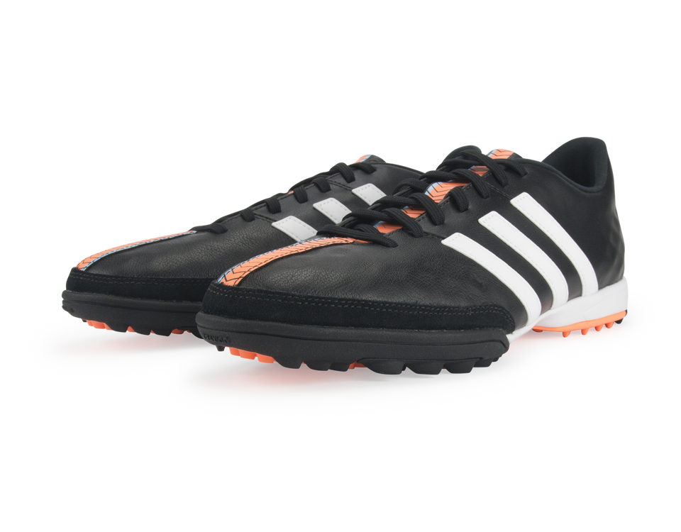 adidas Men's 11Nova Turf Soccer Shoes Core Black/White/Flash Orange