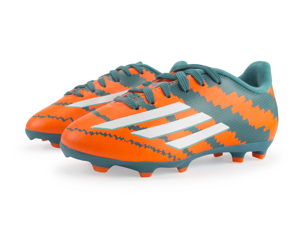 adidas Kids Messi 10.3 FG Power Teal/White/Solar Orange