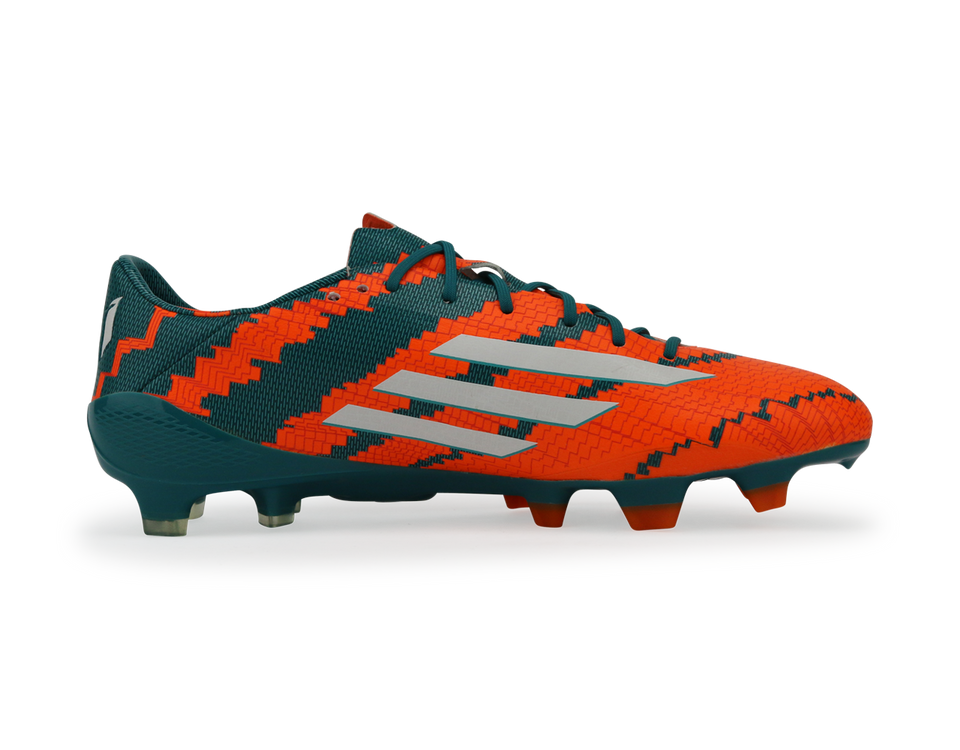 adidas Men's Messi 10.1 FG Power Teal/White/Solar Orange