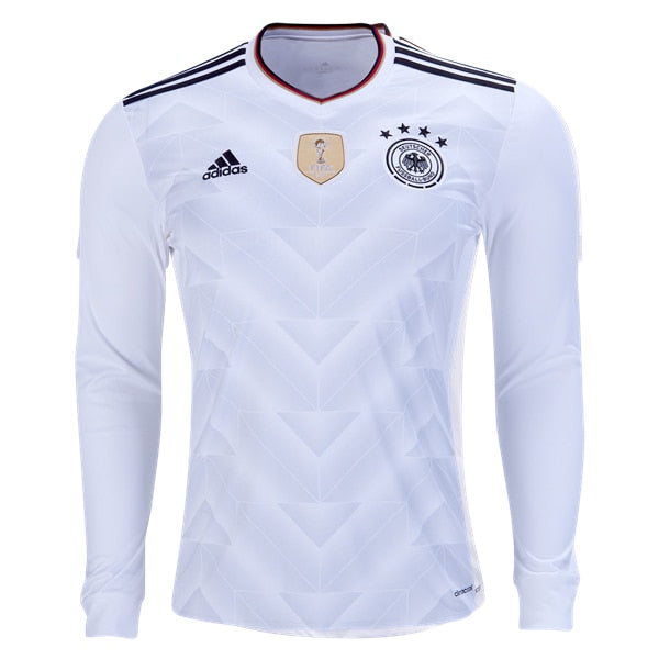 adidas Men's Germany 17/18 Home Long Sleeve Jersey White/Black