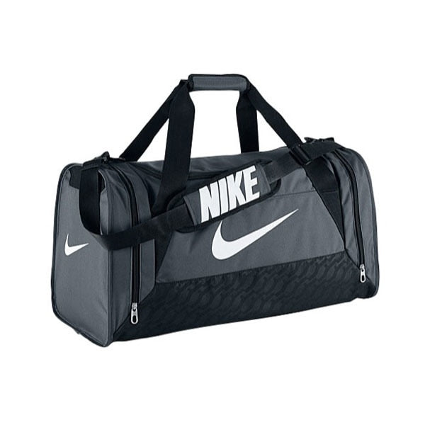 Nike Brasilia 6 Medium Duffel Bag Grey