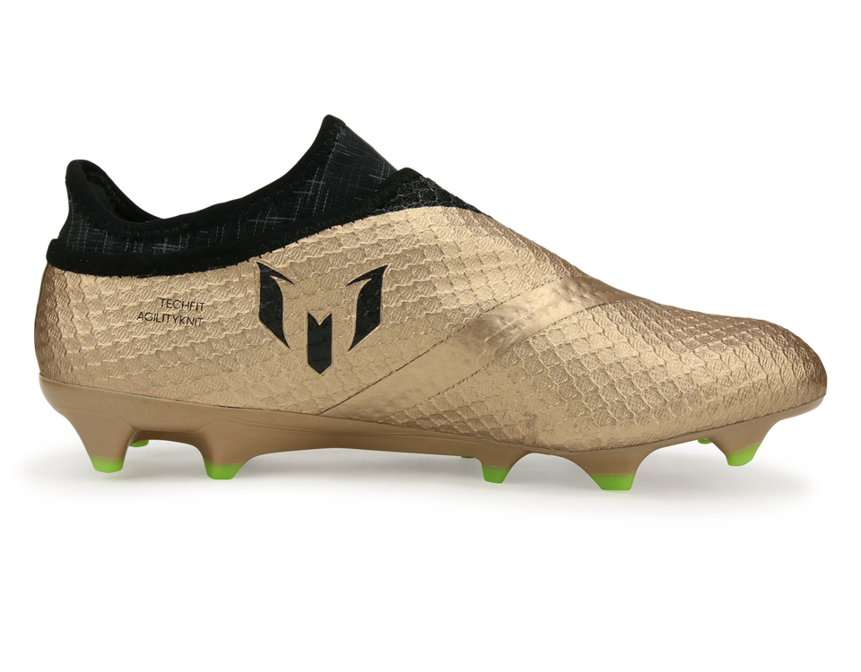 adidas Men's Messi 16+ Pureagility FG Copper Metallic/Core Black/Solar Green