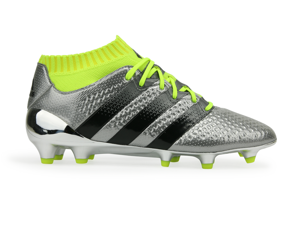 adidas Kids ACE 16.1 Primeknit FG/AG Silver Metallic/Core Black/Solar Yellow