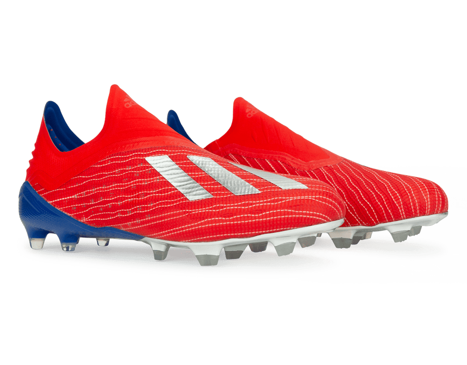 adidas Men's X 18+ FG Red/Silver