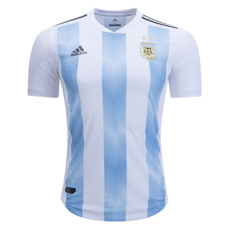 adidas Men's Argentina 18/19 Authentic Home Jersey White/Clear Blue
