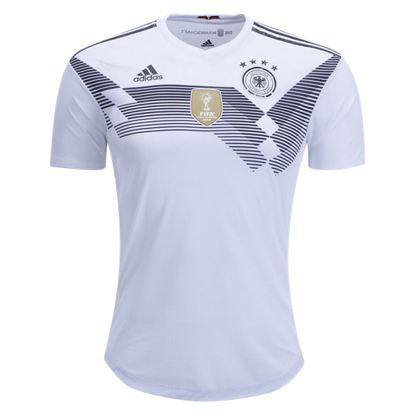 adidas Men's Germany 18/19 Authentic Home Jersey White/Black