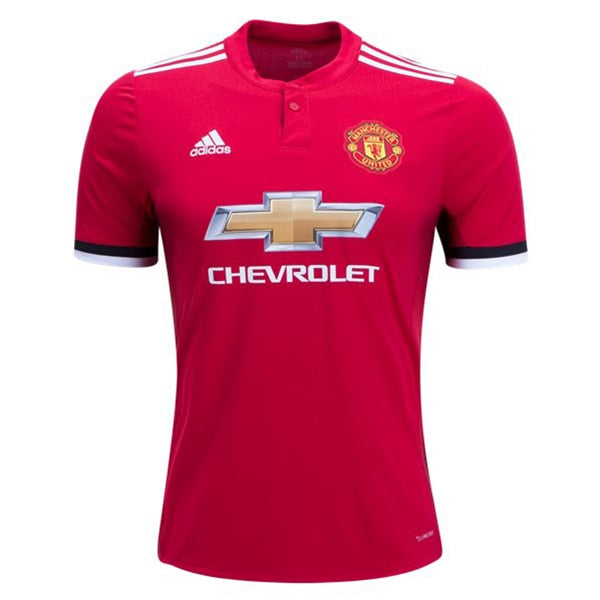 adidas Men's Manchester United 17/18 Home Jersey Real Red/White/Black