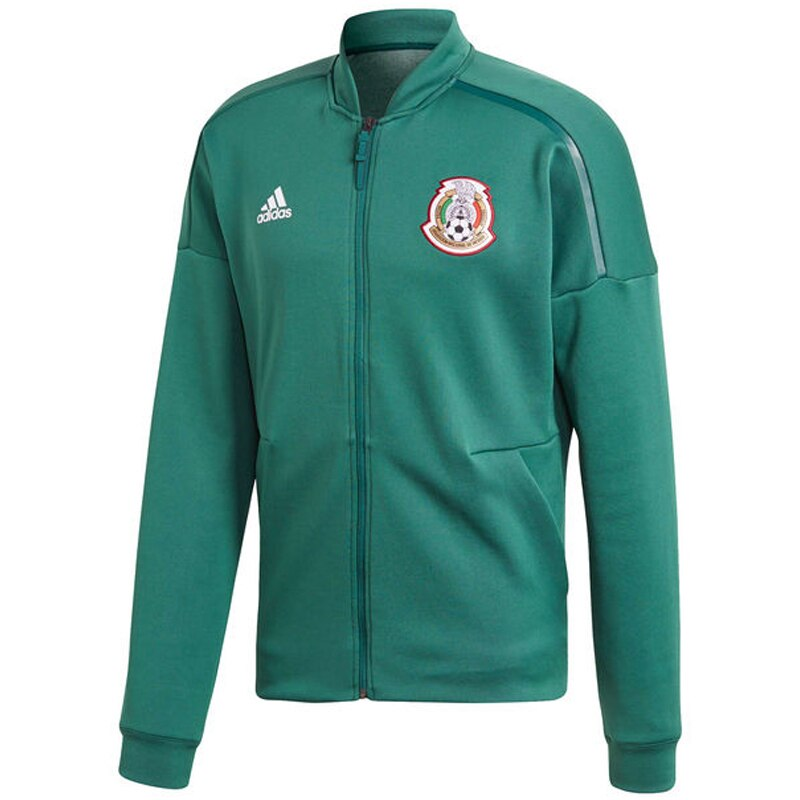 adidas Men's Mexico ZNE Anthem Jacket Core Green