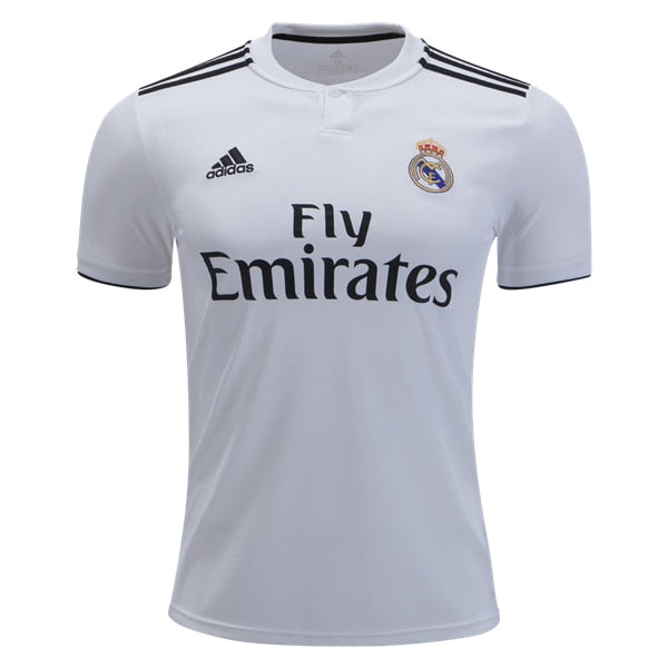 adidas Kids Real Madrid 18/19 Home Jersey Core White/Black