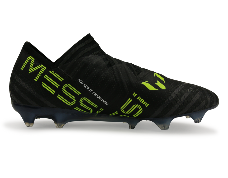 adidas Men's Nemeziz Messi 17+ FG Core Black/White/Solar Yellow