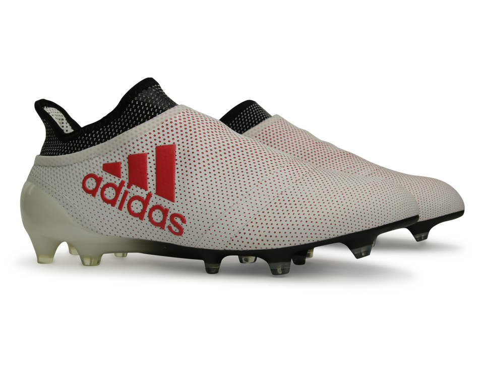 adidas Men's X 17+ FG Grey/Real Coral/Core Black