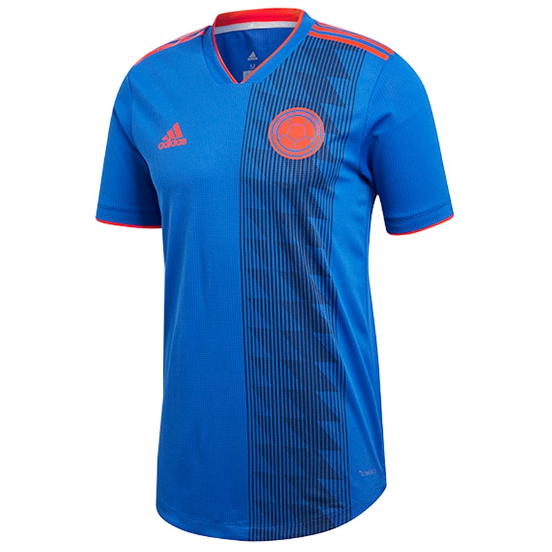 adidas Men's Colombia 18/19 Away Jersey Bold Blue/Solar Red