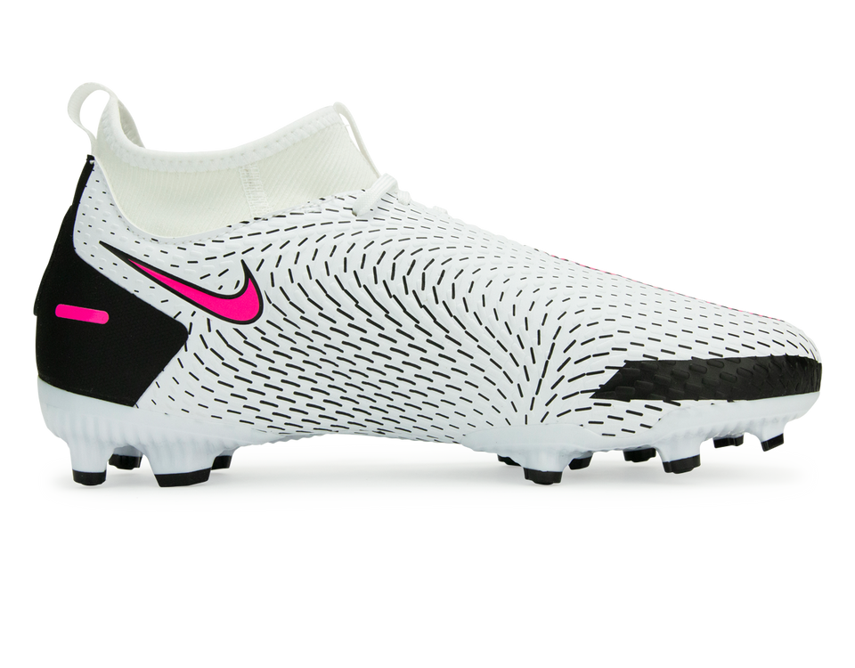 Nike Kids Phantom GT Academy DF FG/MG White/Black/Pink Blast