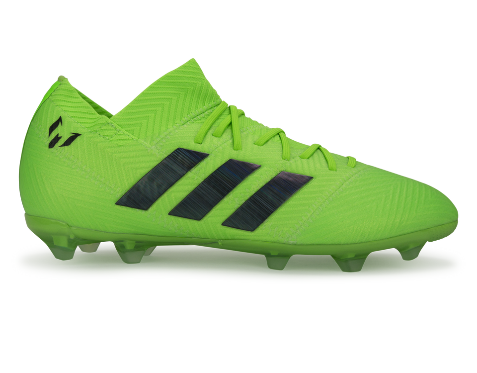 adidas Kids Nemeziz Messi 18.1 FG Solar Green/Core Black