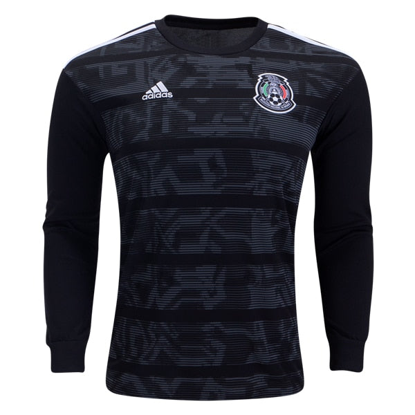 adidas Men's Mexico 19/20 Home Long Sleeve Jersey Black/White