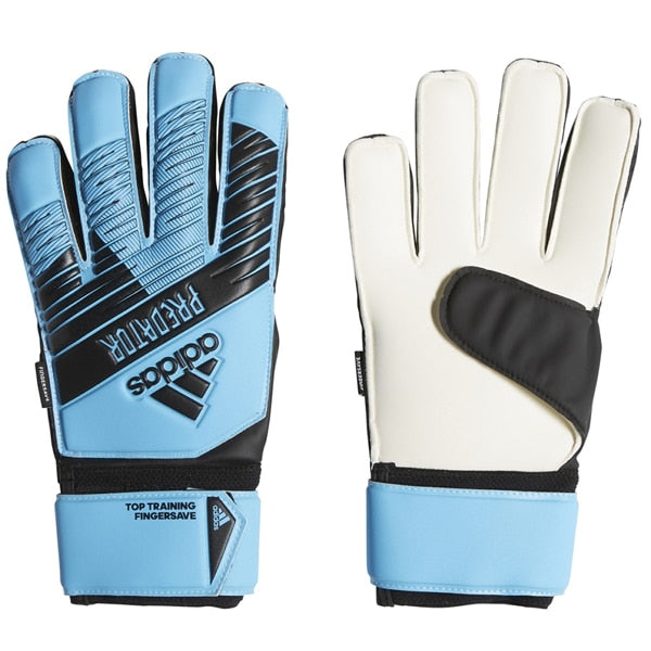 adidas Kids Predator Top Training Fingersave Goalkeeper Gloves Bright Cyan/Black