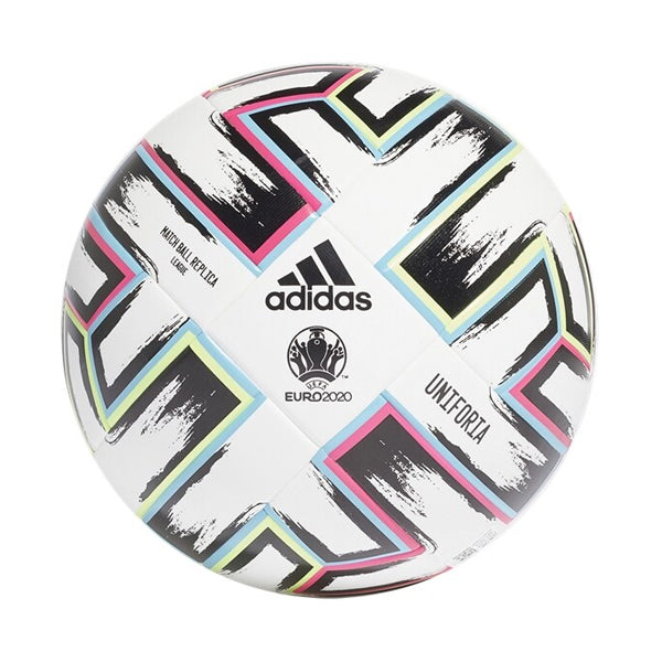 adidas Uniforia League Ball White/Black/Signal Green/Bright Cyan