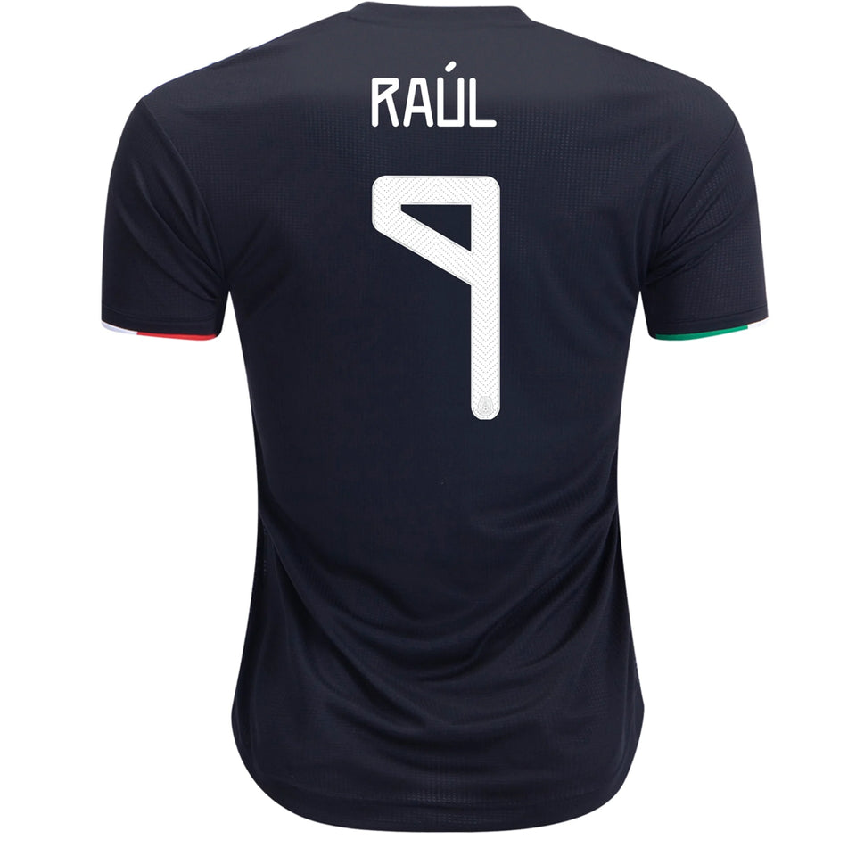adidas Men's Mexico 19/20 Authentic Raul Jimenez Home Jersey Black/White