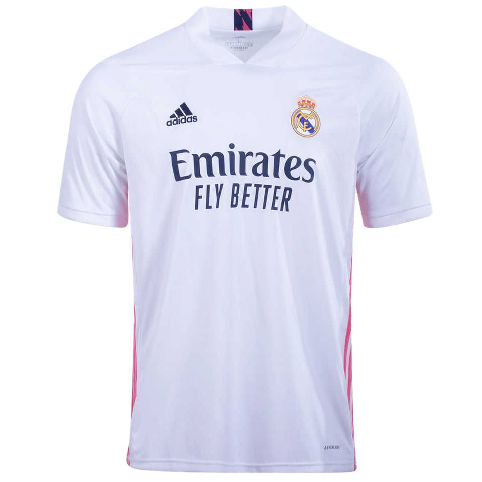 adidas Kids Real Madrid 20/21 Home Jersey White