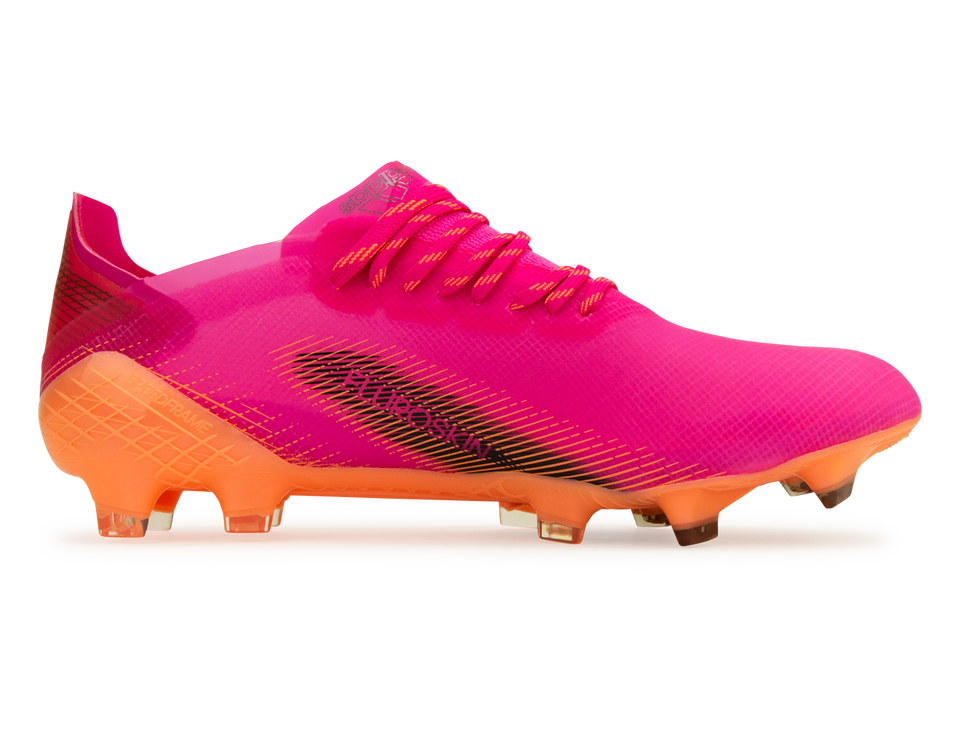 adidas Men's X Ghosted.1 FG Pink/Orange Side