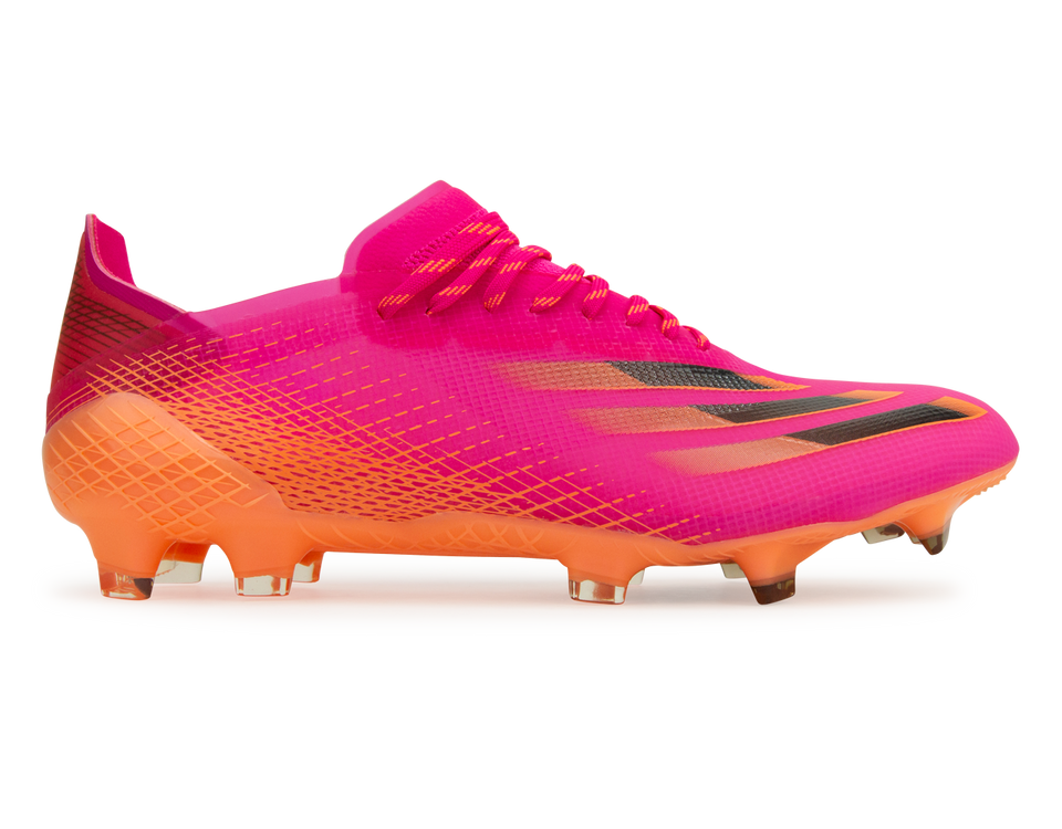 adidas Men's X Ghosted.1 FG Pink/Orange Front