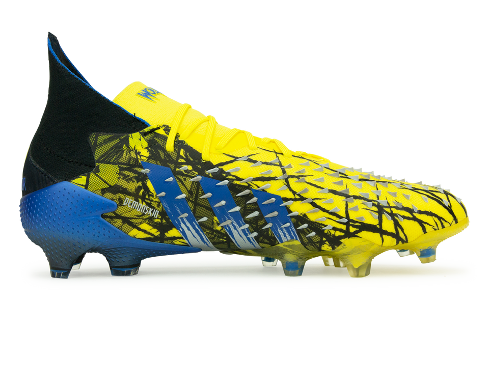 adidas Men's Marvel Predator Freak.1 FG Yellow/Black Side