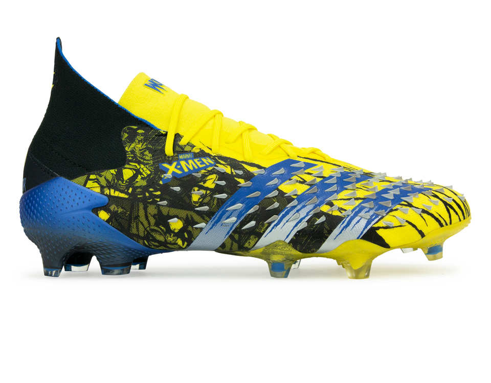 adidas Men's Marvel Predator Freak.1 FG Yellow/Black Front