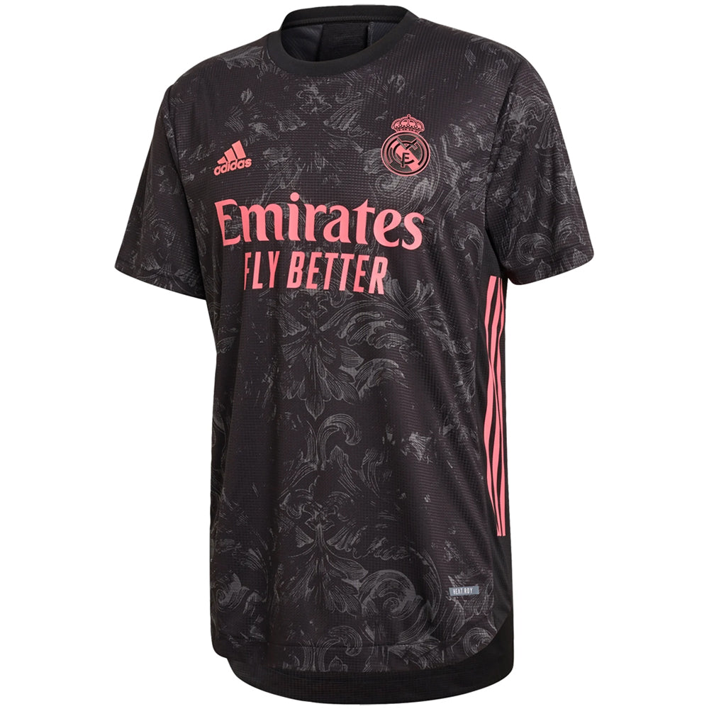 adidas Men's Real Madrid 2020/21 Authentic Third Jersey Black
