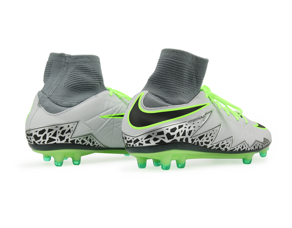 Nike Men's Hypervenom Phatal II DF FG Pure Platinum/Black/Ghost Green