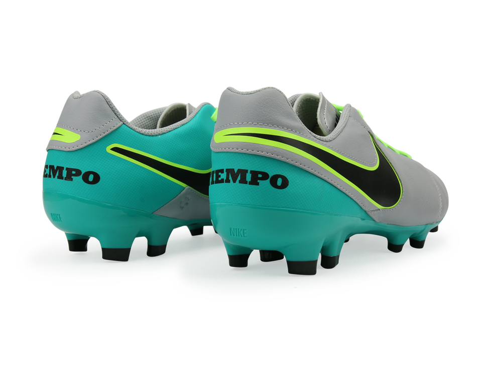Nike Men's Tiempo Genio II FG Wolf Grey/Black/Clear Jade