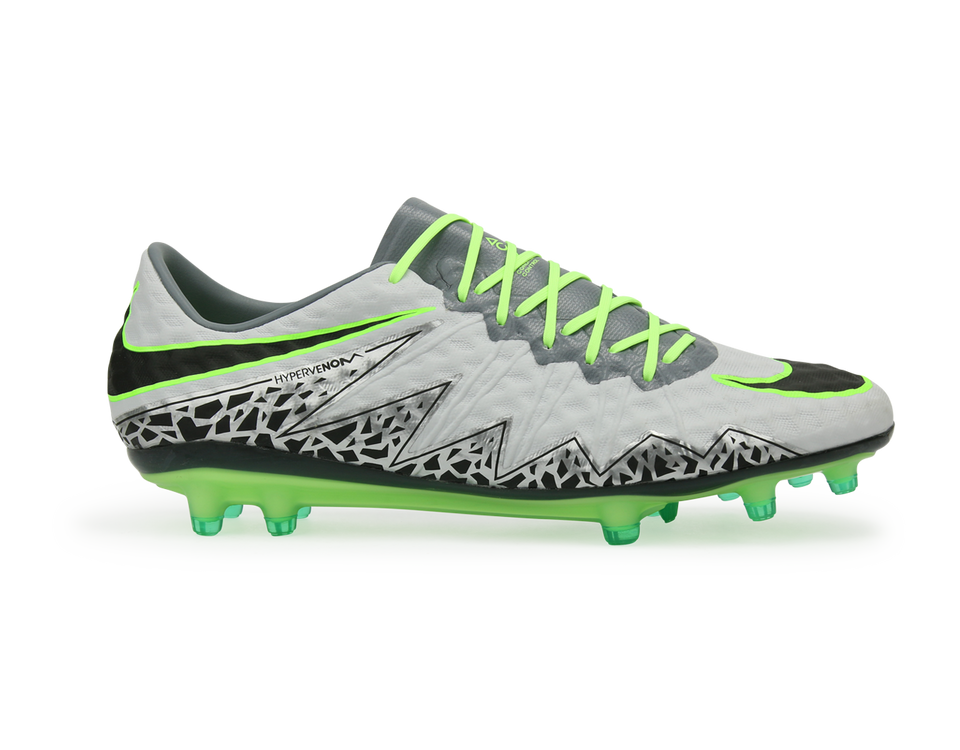 Nike Men's Hypervenom Phinish FG Pure Platinum/Black/Ghost Green
