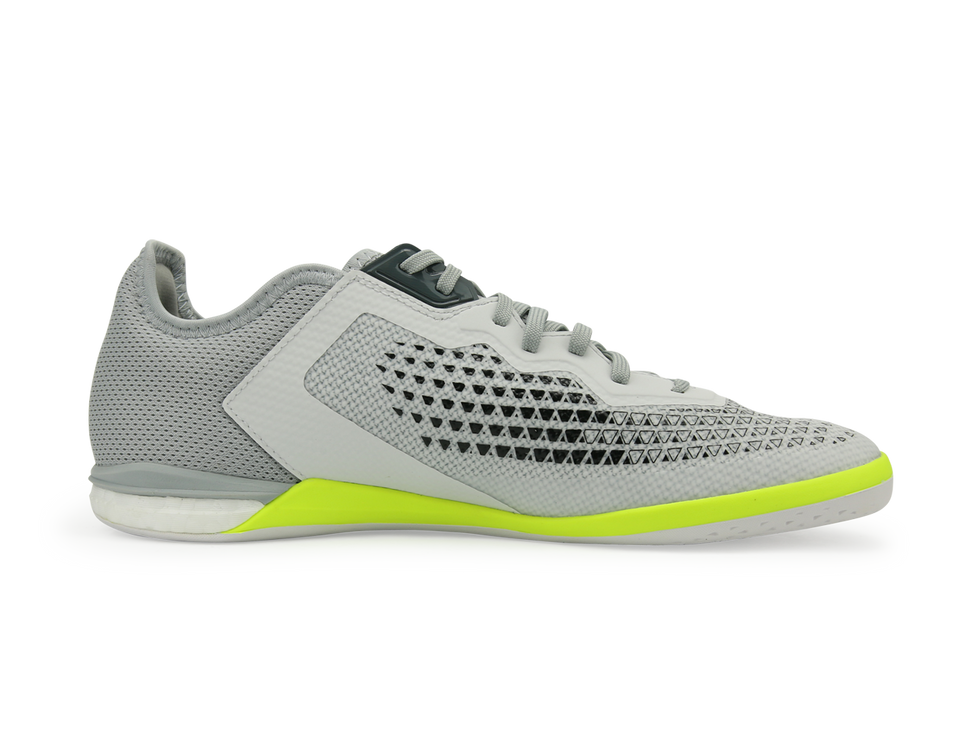 adidas Men's ACE 16.1 Court Indoor Soccer Shoes Crystal White/Onix/Solar/Yellow