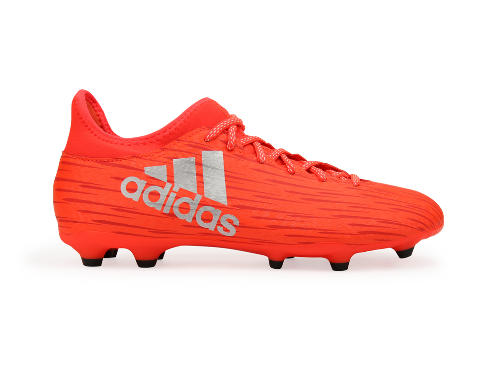adidas Men's X 16.3 FG/AG Solar Red/Metalic Silver