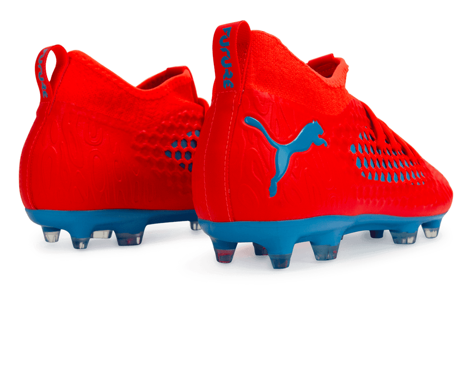 PUMA Men's Future 19.3 NetFit FG/AG Red Blast/Bleu Azur