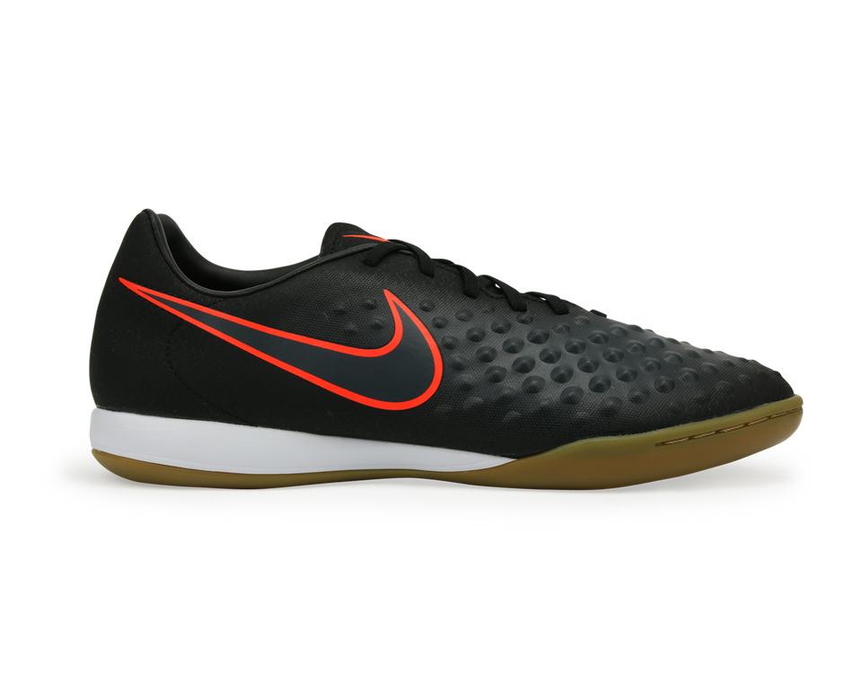 Nike Men's MagistaX Onda II Indoor Soccer Shoes Black/Total Crimson